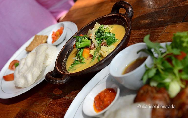 El boníssim menjar indonesi