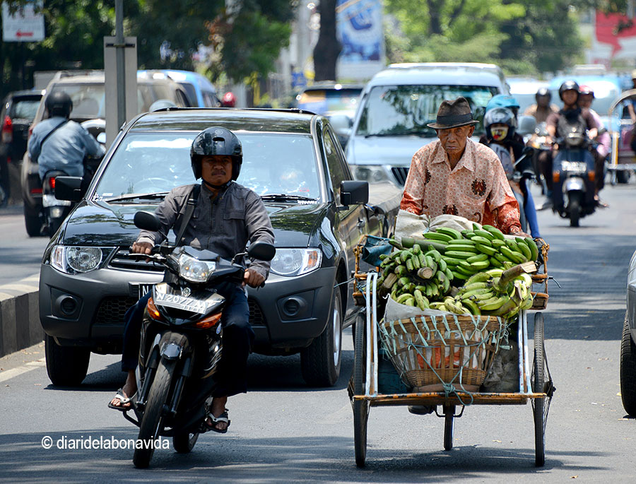 Les vies principals de la ciutat són plenes de tot tipus de vehicles