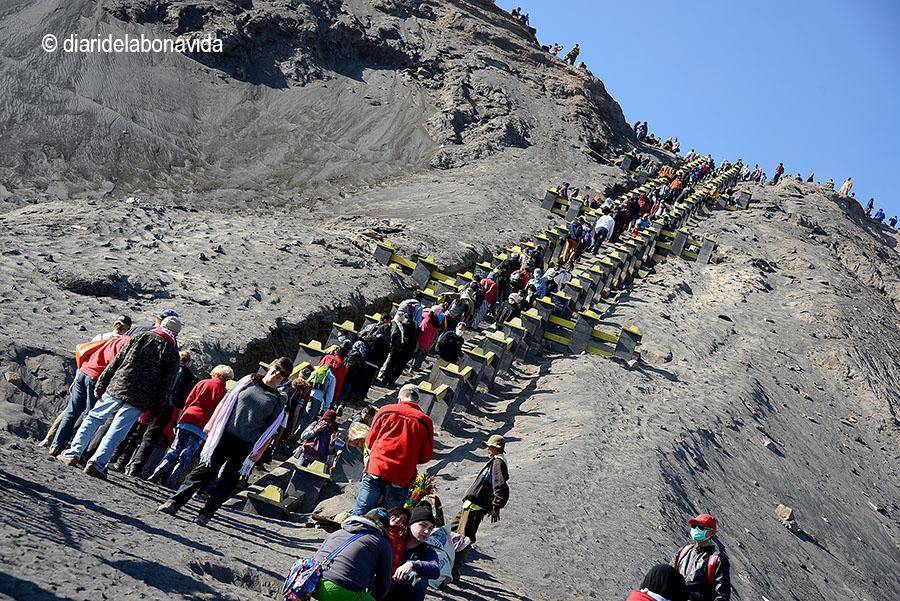 250 graons ens separen del cim del volcà Bromo