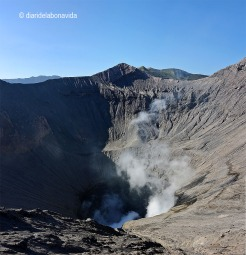 La visió del cràter impressiona