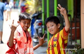 Sempre un somriure. Ah! I el Barça triomfa a tot arreu