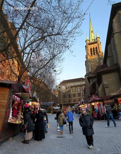 Mercat de Nadal de Saint-Pierre. Lausanne
