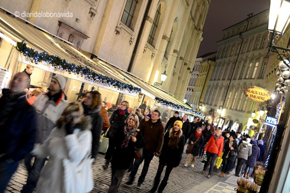 Mercat de Nadal a la Plaça Karlova. Praga