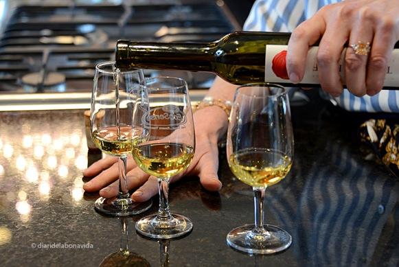 El vi de gel te una gran concentració de sucre.