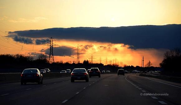 I de tornada a Toronto el cel ens ofereix un espectacle de colors.