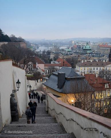Des del castell tenim unes bones vistes de la ciutat. Staré Zámecké Schody