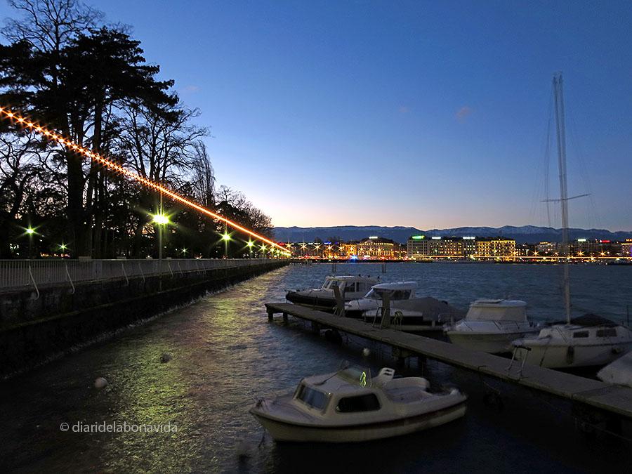 Ginebra, Suissa. Promenade du Lac