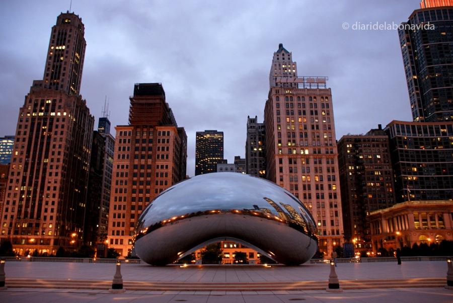 Ens va encantar fotografiar l'escultura Cloud Gate a Chicago