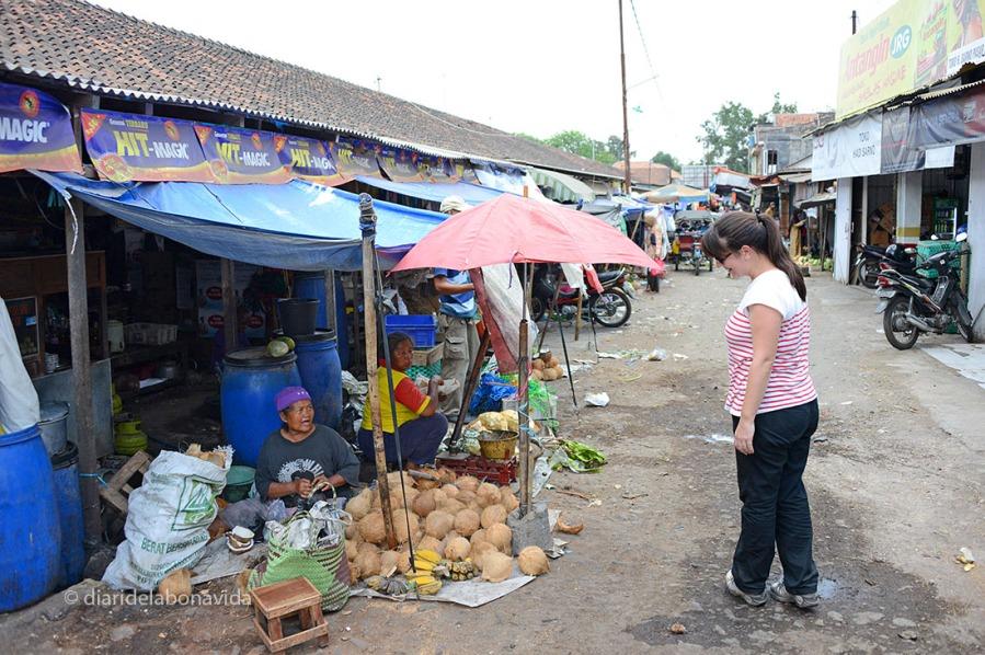 Voltant pel Mercat d'aliments del poble de Prambanan