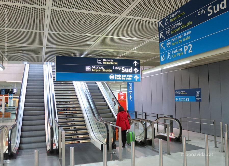 Sortint de l'aeroport cal buscar els indicadors a l'ORLYVAL