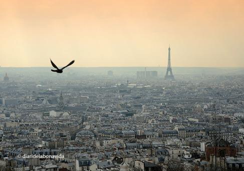 La silueta de la Torre destaca sobre la ciutat de París