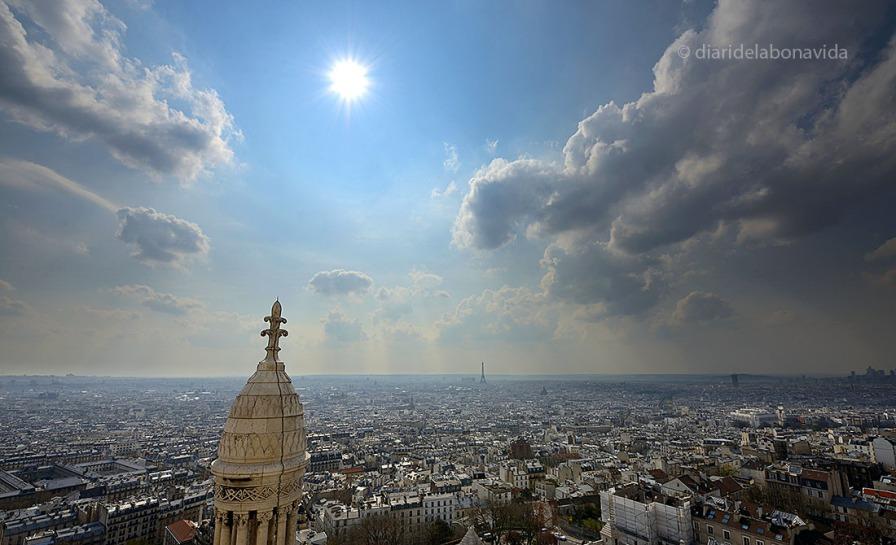 Des de Montmartre, el cel de París es espectacular.