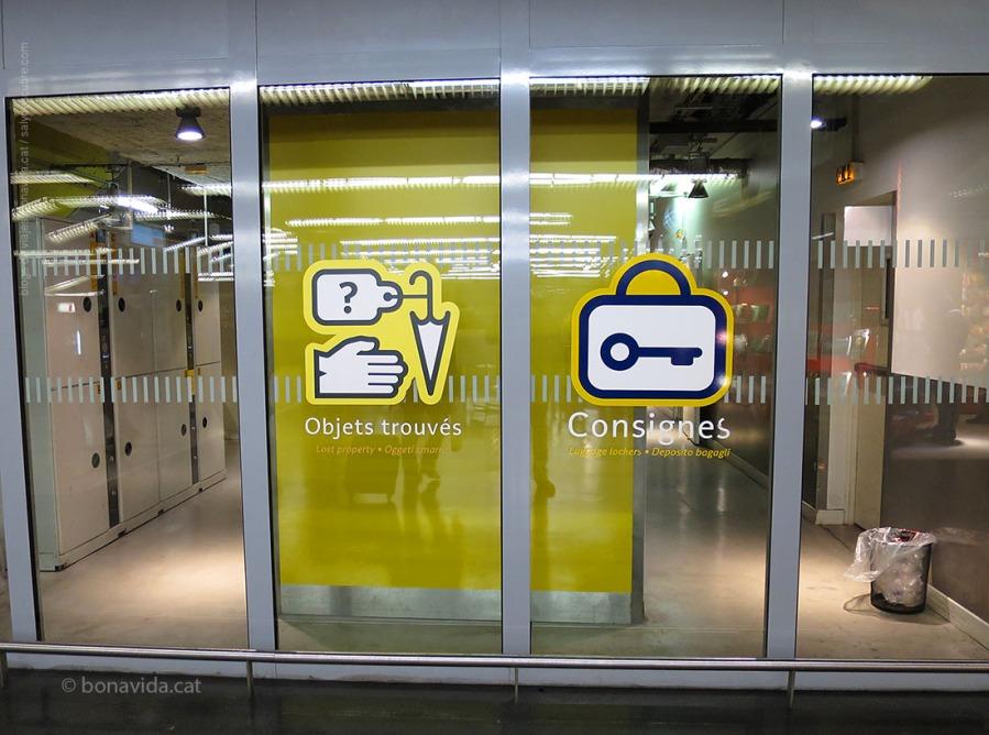 Departament de consignes a l'estació parisenca de Lyon