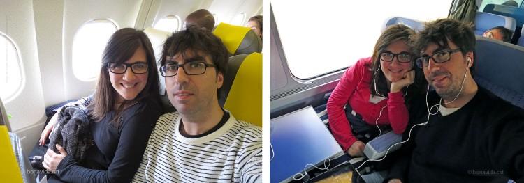 Avió... o tren. Difícil elecció!