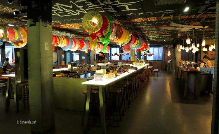 Restaurant i bar de copes de l'hotel Mama Shelter