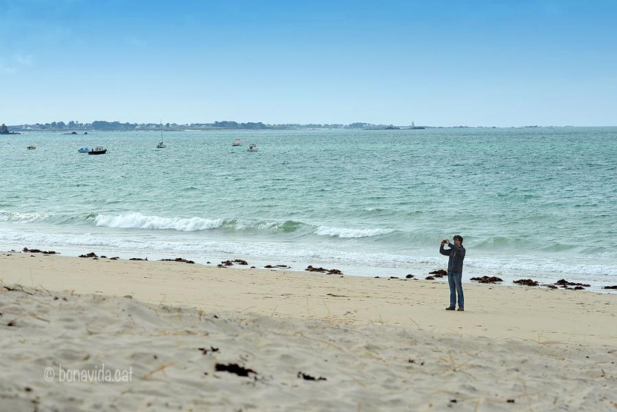 Fent fotos a la platja de Ode-Vraz, a Keremma