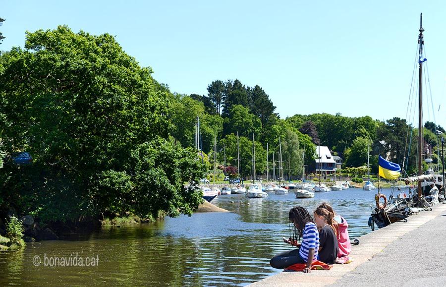 El riu acull un petit port