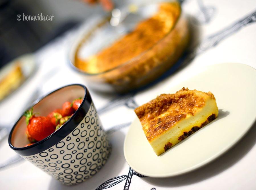 """Una de les delícies bretones que ens han preparat. El """"Far"""" és un típic pastís de la zona."""