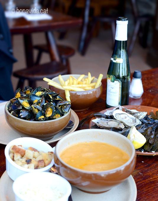 Cancale. Restaurant Au Pied de Cheval, Bretanya