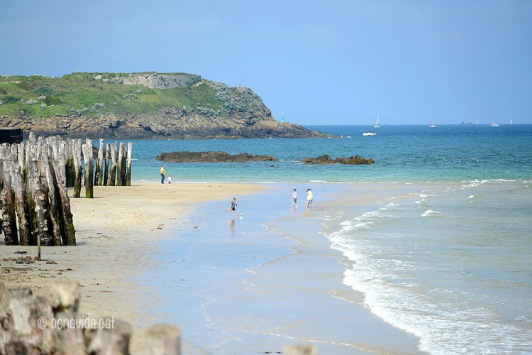 Plage de l'Eventail, Saint Malo. Bretanya