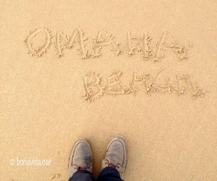 Trepitjant la famosa Omaha Beach