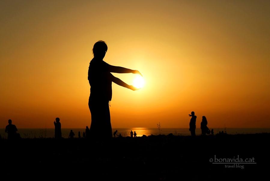 Gairebé pots agafar el sol amb les teves mans...