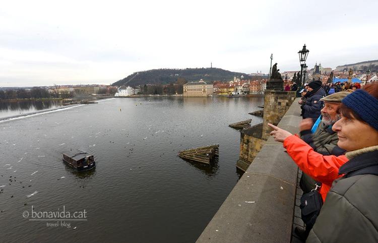 El pont creua el riu Moldava