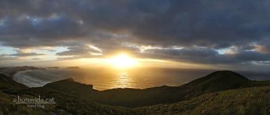 Posta de sol a Cape Reinga, un dels punts més al nord del país