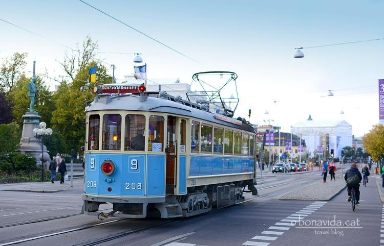 El tramvia és un dels transports preferits a Göteborg