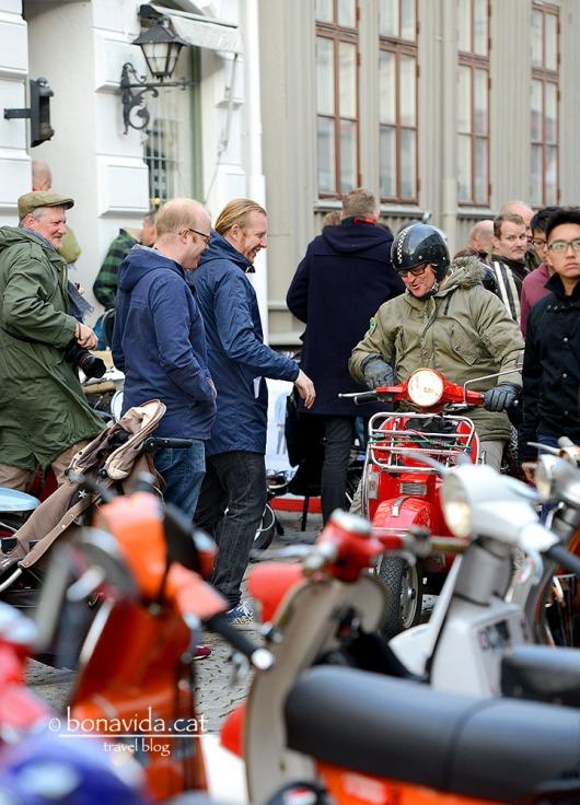 Contentració de motos Vespa a Göteborg