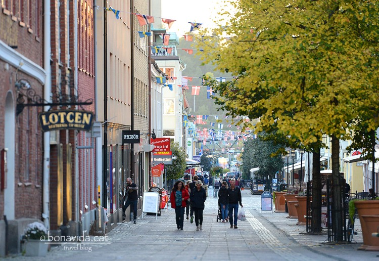 Un dels carrers principals de la ciutat Uddevalla