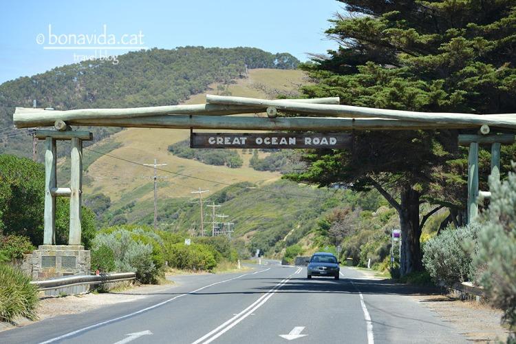 Inici de la Great Ocean Road