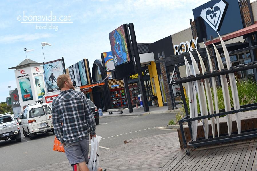 Torquay és el regne del surf. allà hi ha les principals marques d'aquest esport