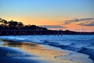 australia hervey bay beach sunset