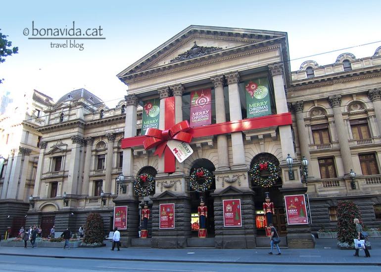 City Hall de Melbourne amb decoració nadalenca