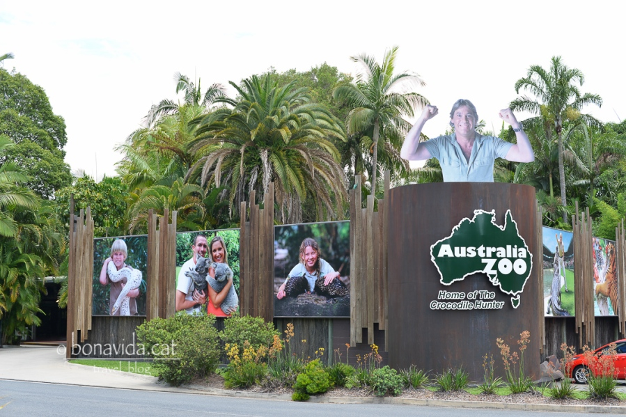 Entrada de l'Australian Zoo, creat per Steve Irwin