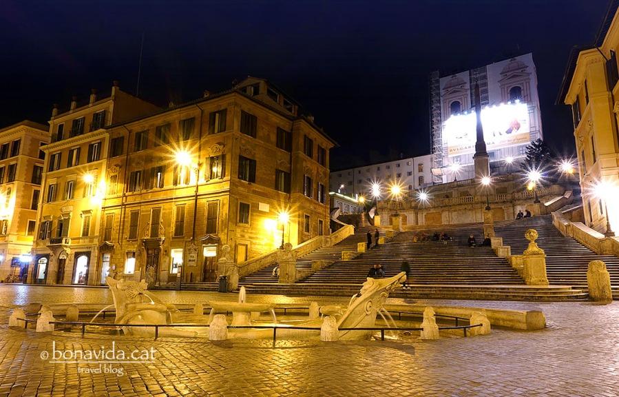Les famoses escales de la Piazza Spagna