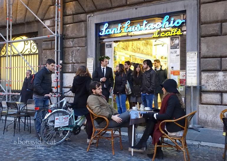 Un dels cafés més populars a la ciutat, el Café Sant Eustachio