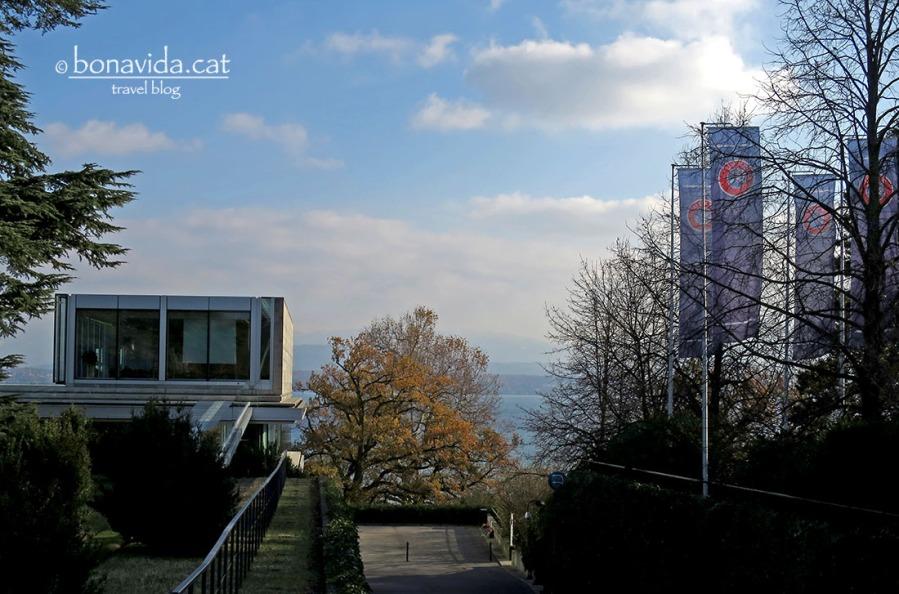 Edificis de la UEFA davant el llac