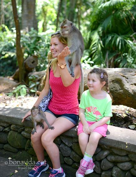A la gent li encanta fer-se fotos amb els micos...