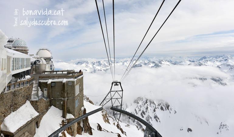 El telefèric ens puja fins al cim del Pic du Midi