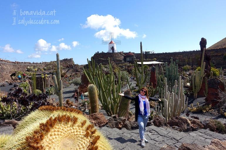 Visitant el Jardín de Cactus. Més de 1.000 espècies de cactus en un mateix espai