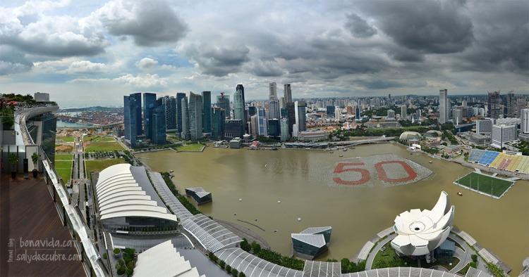 Skyline de Singapur des de l'hotel