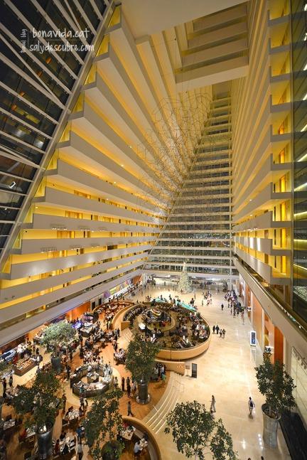 Interior de l'hotel. Aqui tot és gran!