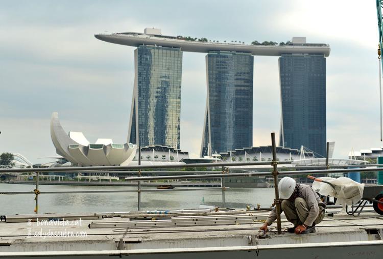 El Marina Bay Sands en obres