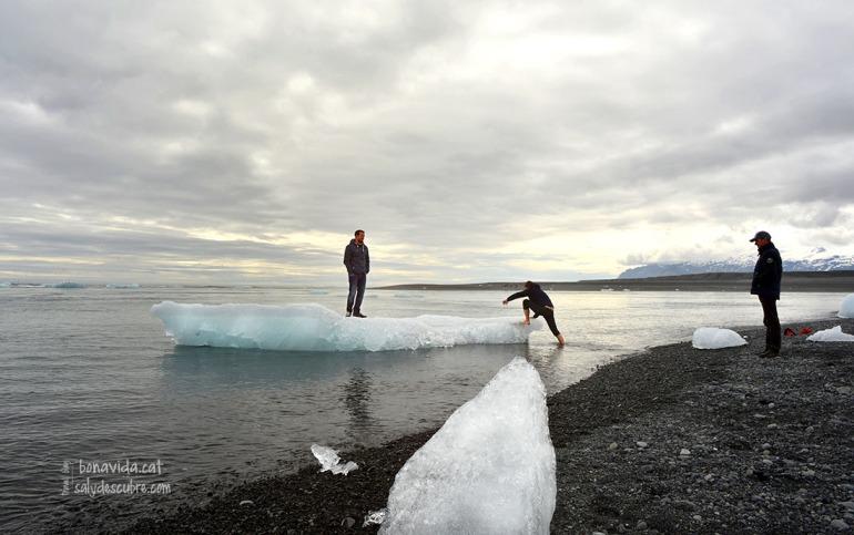 Alguns no poden resistir la temptació de navegar sobre el gel