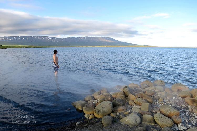 Les emanacions d'aigues termals brollen de l'interior de la terra al llac Laugarvatn