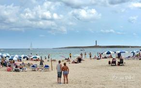 ...la platja de Punta Prima...