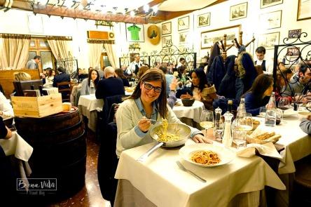Roma. Restaurant Taverna Trilussa