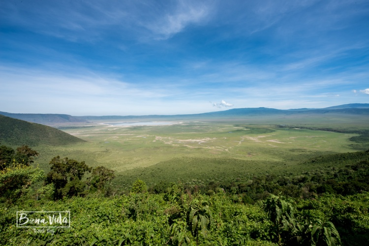 tanzania crater ngorongoro view
